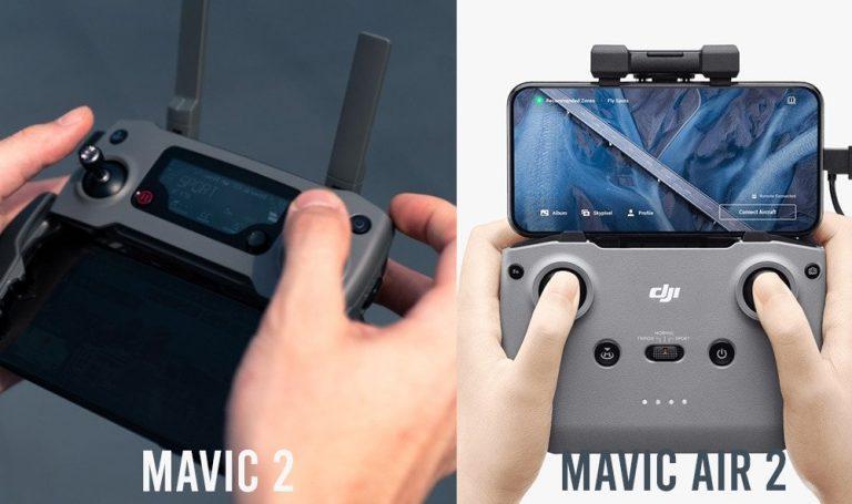 mavic air 2 transmittervs mavic 2 controller