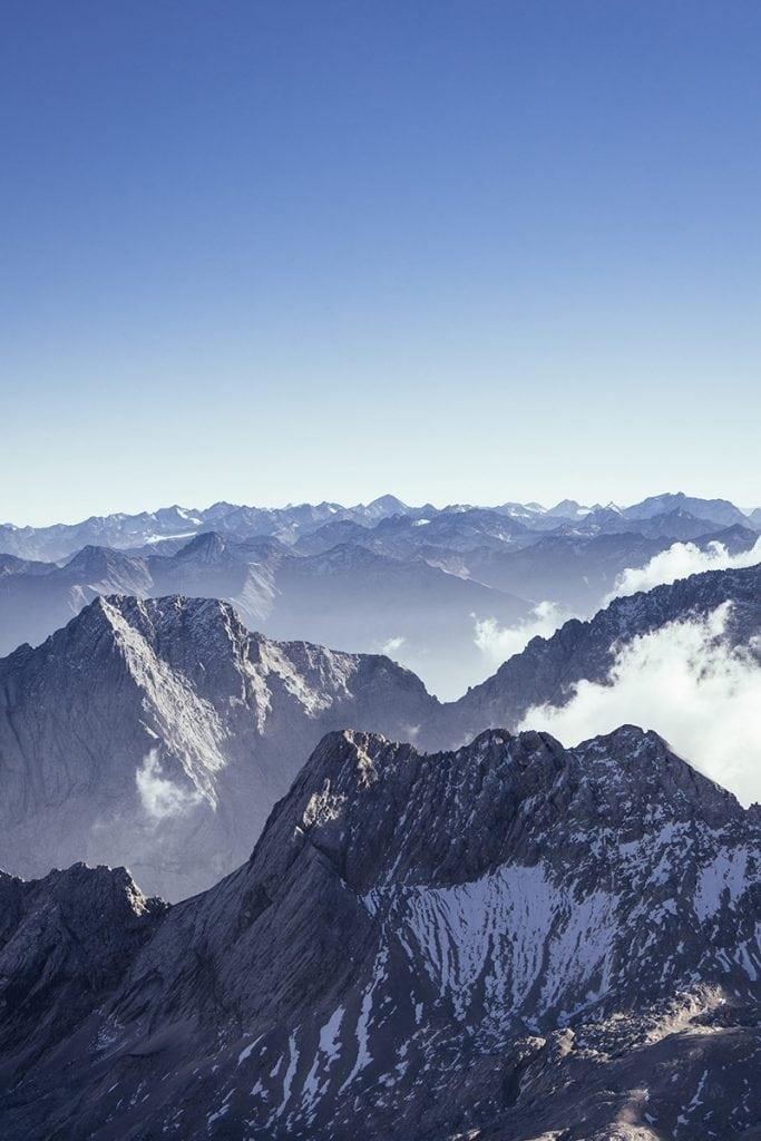 austria mountains drone photo
