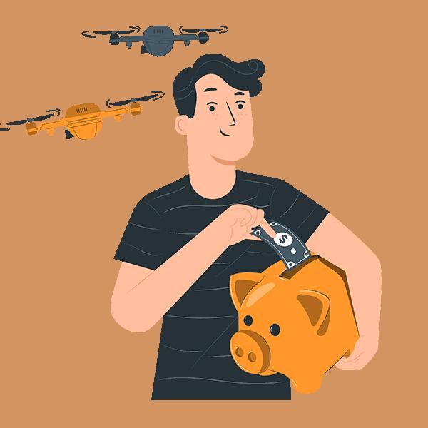 cheap drones saving money