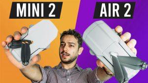 dji mini 2 vs mavic air 2 thumbnail comparison