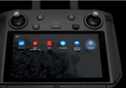 dji smart controller system settings page
