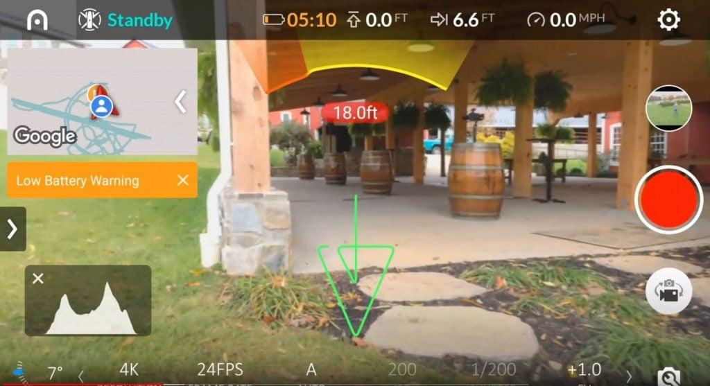 drone app screenshot autel evo
