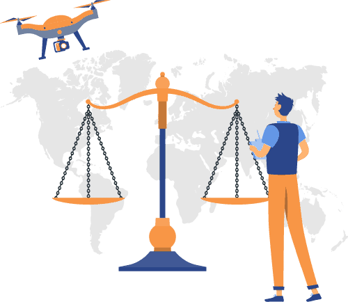 drone laws by country updated map