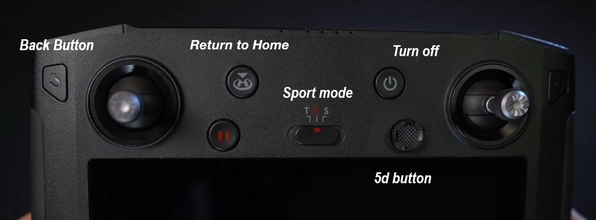 front buttons for dji smart controller 5d button