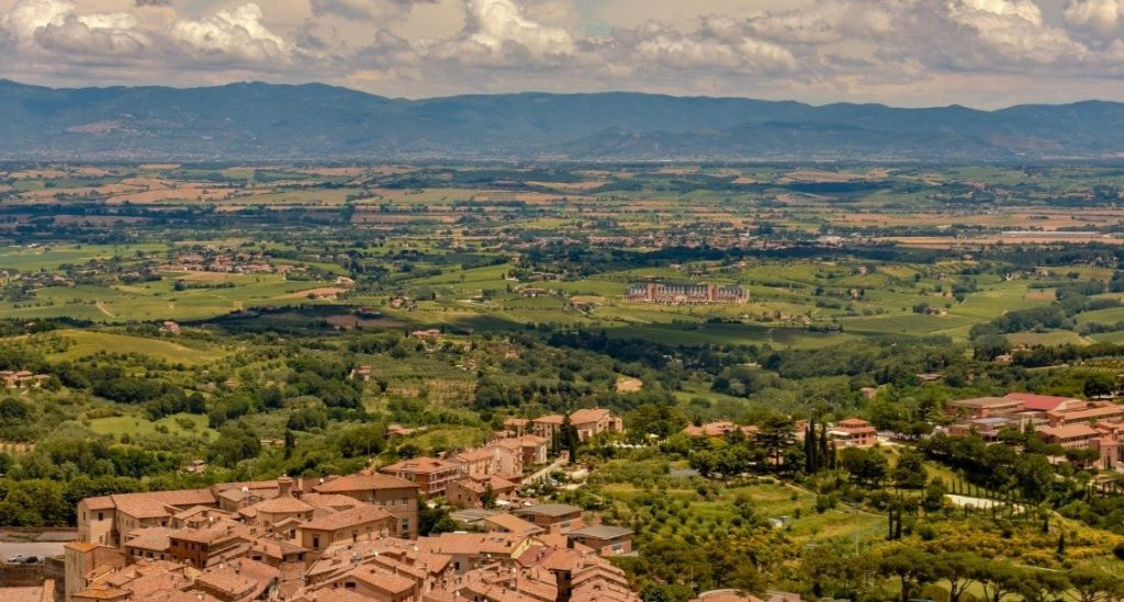 italy landscape by drone