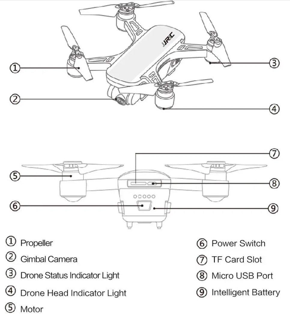 jjrc heron design features