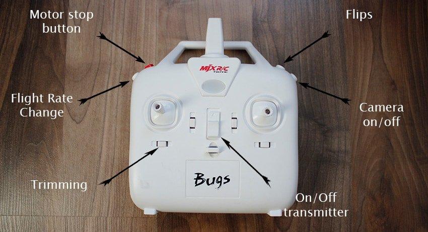mjx bugs 3 controls