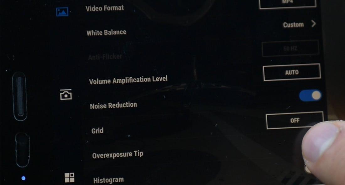 osmo phone video settings