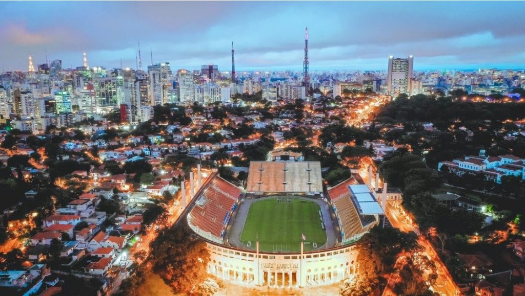 portugal drone shote stadium