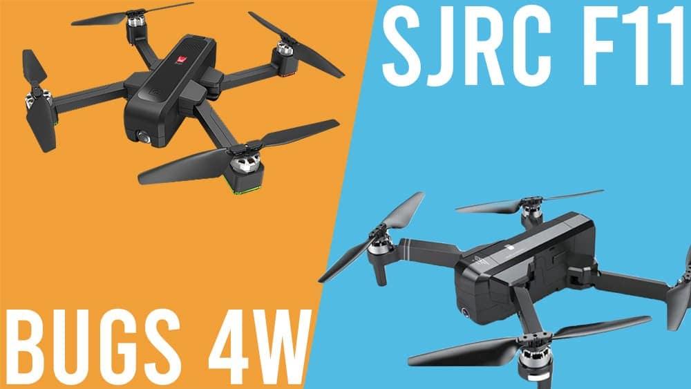 sjrc f11 vs bugs 4w best folding gps quadcopters