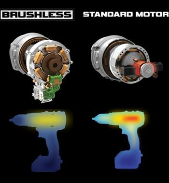 standard motor vs brushed when heating faster