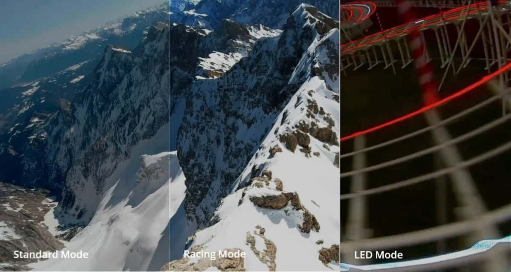standard vs racing vs LED modes DJI FPV