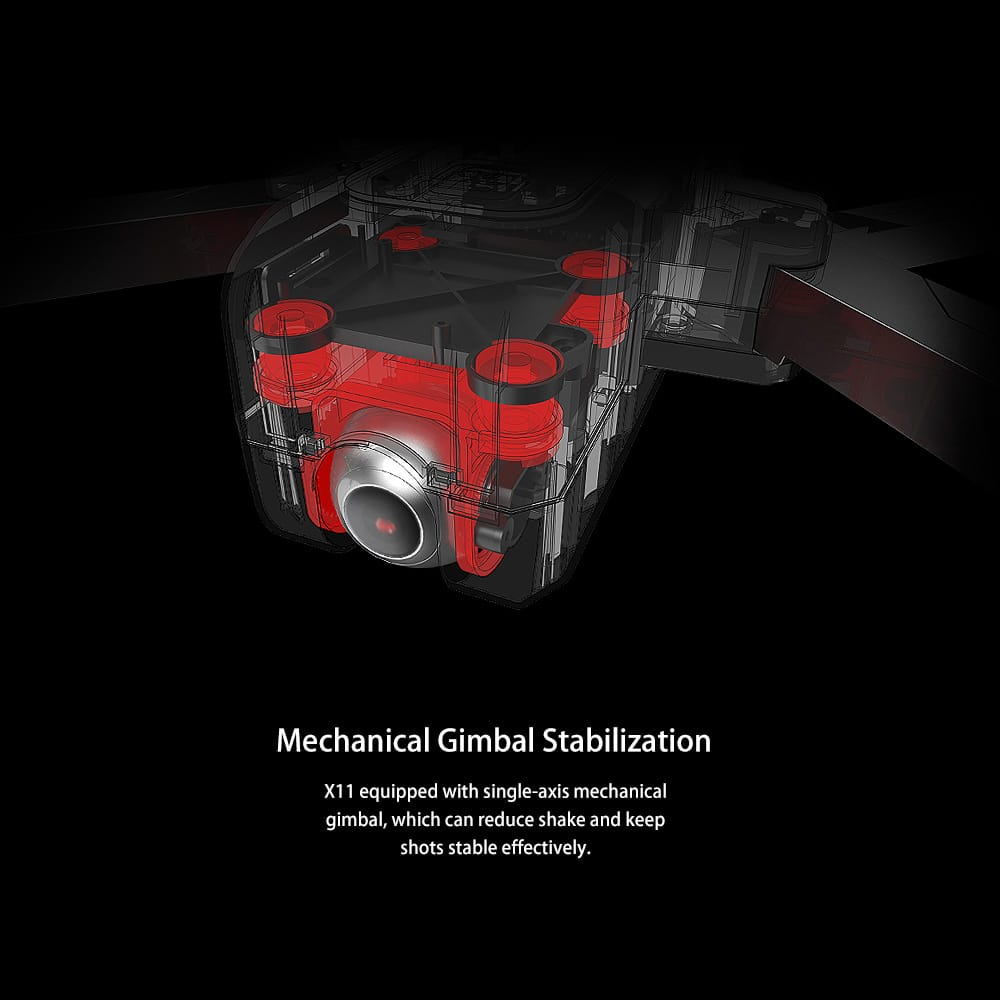 x11 camera gimbal stabilization