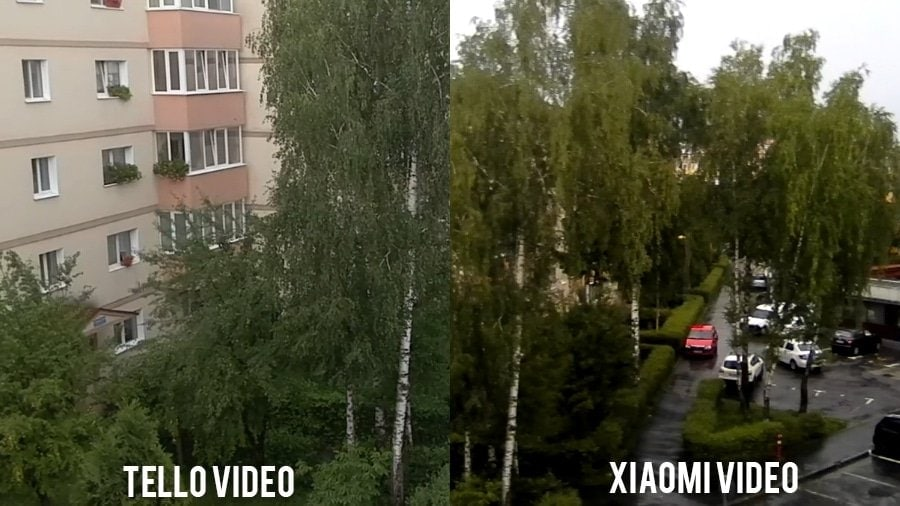 xiaomi vs tello video comparison