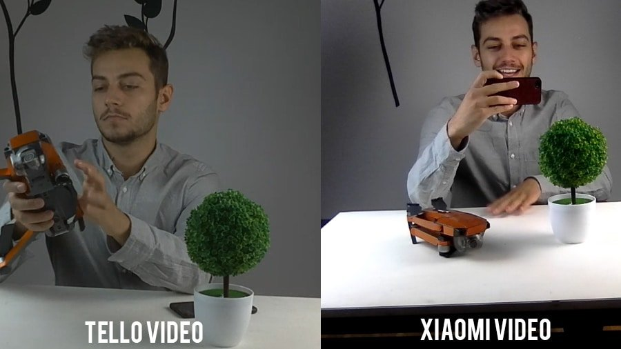 xiaomi vs tello video noise comparison