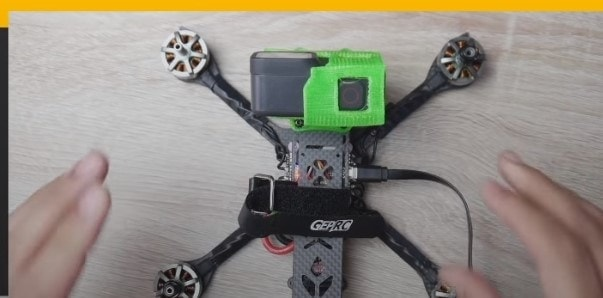 Plug in USB while the drone is facing away