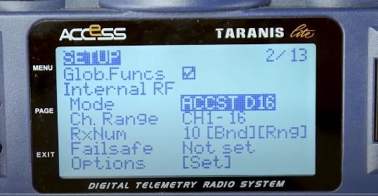 binding taranis transmitter