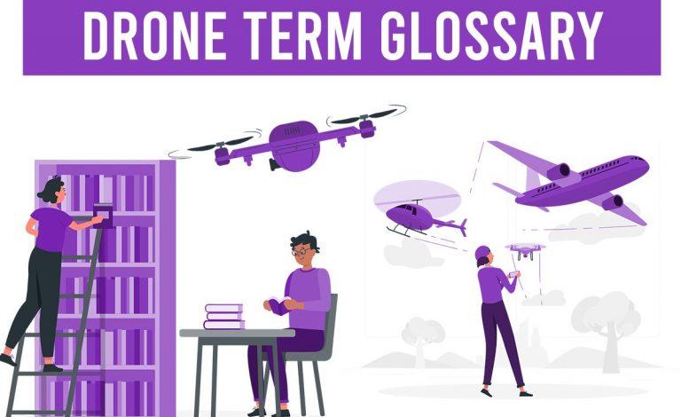 drone term glossary quadcopter UAV