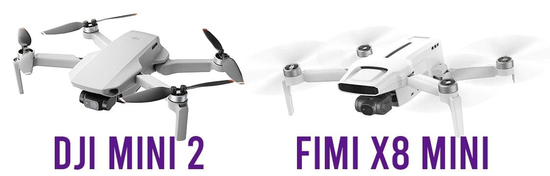 fimi-x8-mini-next-to-dji-mini-2