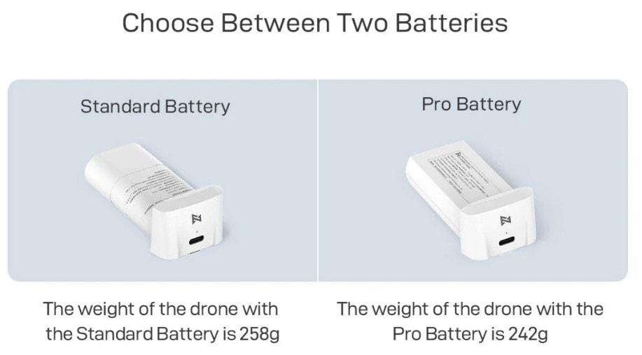 fimi x8 mini standard vs pro battery