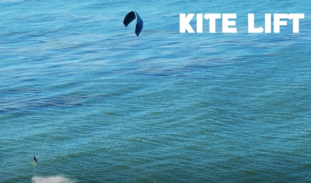 kite lift shot with a drone