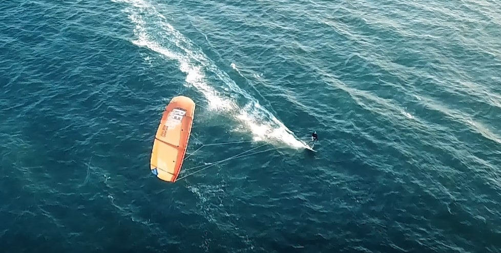 kite surfer drone shot 2