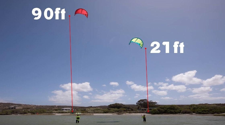 kite surfing line height