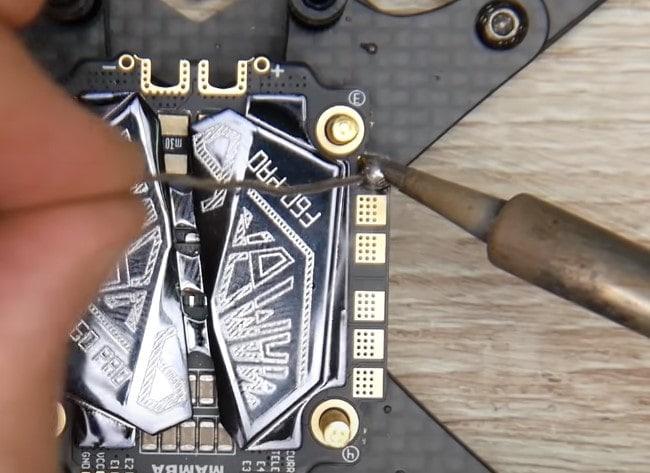 soldering the ESC
