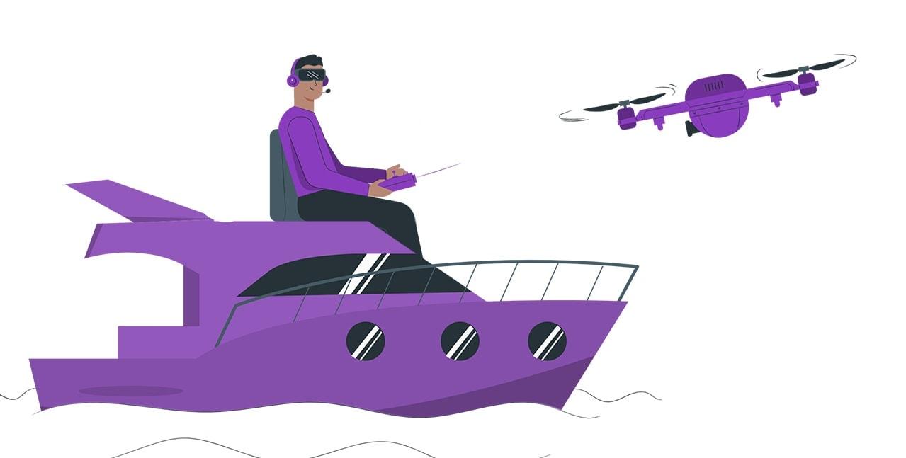 waterproof drone image